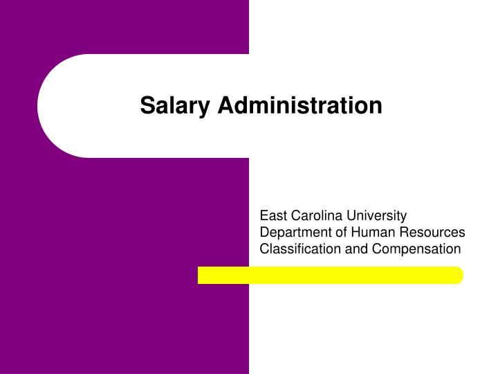 salary administration n.