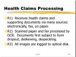 health claims processing
