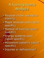 a training needs analysis