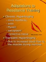 adaptations to resistance training1