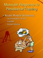 muscular response to resistance training