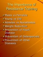 the importance of resistance training