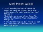 more patient quotes