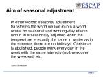 aim of seasonal adjustment1