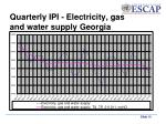 quarterly ipi electricity gas and water supply georgia