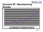 quarterly ipi manufacturing georgia