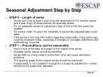 seasonal adjustment step by step