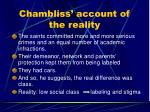 chambliss account of the reality