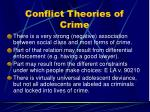 conflict theories of crime