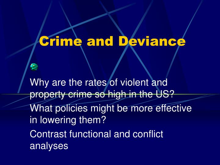 crime and deviance n.
