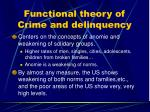 functional theory of crime and delinquency