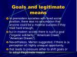 goals and legitimate means