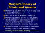 merton s theory of strain and anomie