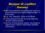 review of conflict themes