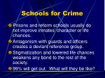 schools for crime