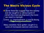 the macro vicious cycle
