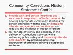 community corrections mission statement cont d1
