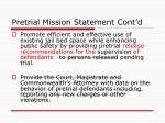 pretrial mission statement cont d1
