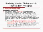 revising mission statements to reflect ebp principles