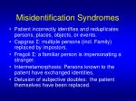 misidentification syndromes