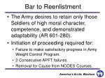 bar to reenlistment
