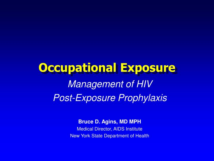 occupational exposure n.