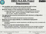 dmso hla adl project requirements