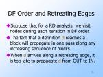 df order and retreating edges