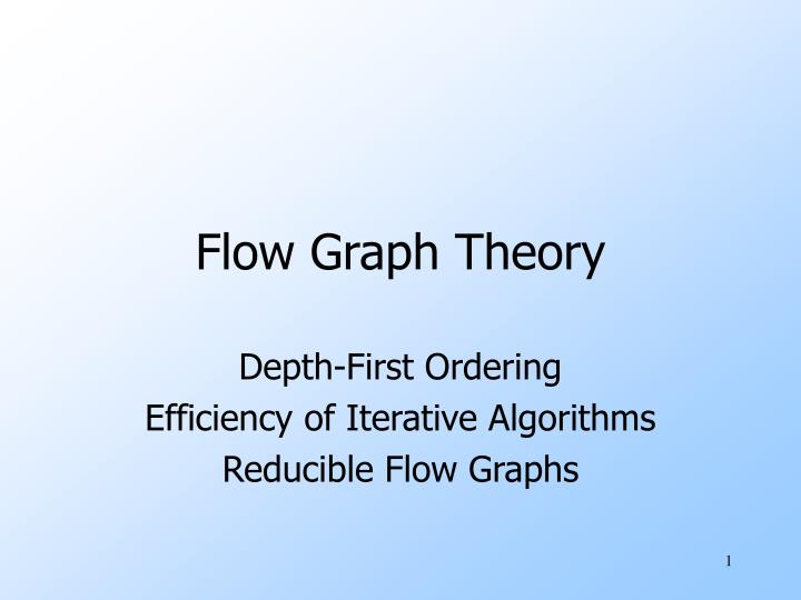 flow graph theory n.