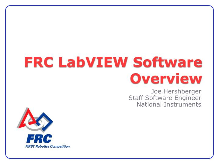 frc labview software overview n.