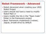 robot framework advanced
