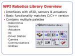 wpi robotics library overview