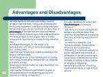 advantages and disadvantages1