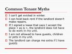 common tenant myths