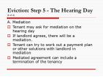 eviction step 5 the hearing day 1 of 2