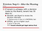 eviction step 6 after the hearing 1 of 2