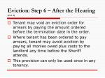 eviction step 6 after the hearing 2 of 2