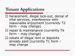tenant applications