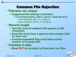 common file rejection