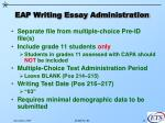 eap writing essay administration