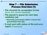 step 7 file submission process overview 1