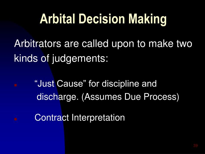 Arbital Decision Making