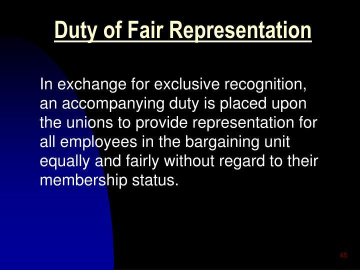 Duty of Fair Representation