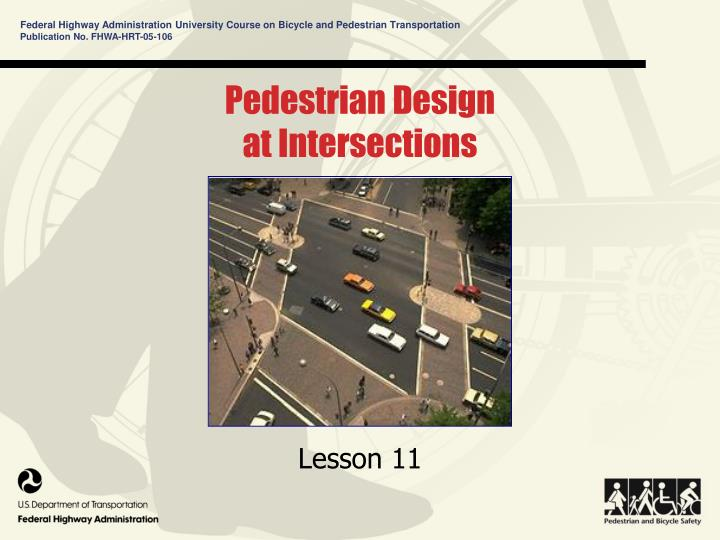 pedestrian design at intersections n.