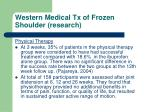 western medical tx of frozen shoulder research1