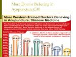 more doctor believing in acupuncture cm