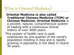 what is oriental medicine
