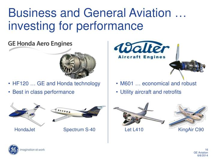Ppt ge aviation powerpoint presentation id1187063 business and general aviation investing for performance toneelgroepblik Gallery