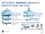 ge aviation systems selected on platforms large and small