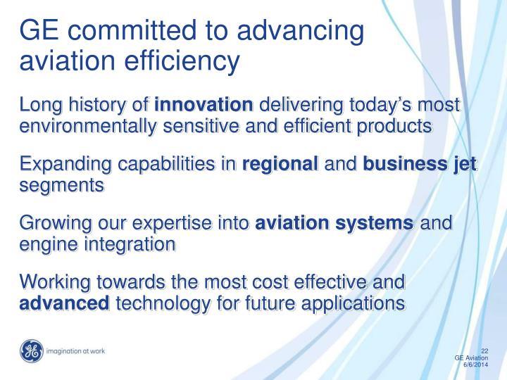Ppt ge aviation powerpoint presentation id1187063 ge committed to advancing aviation efficiency toneelgroepblik Gallery